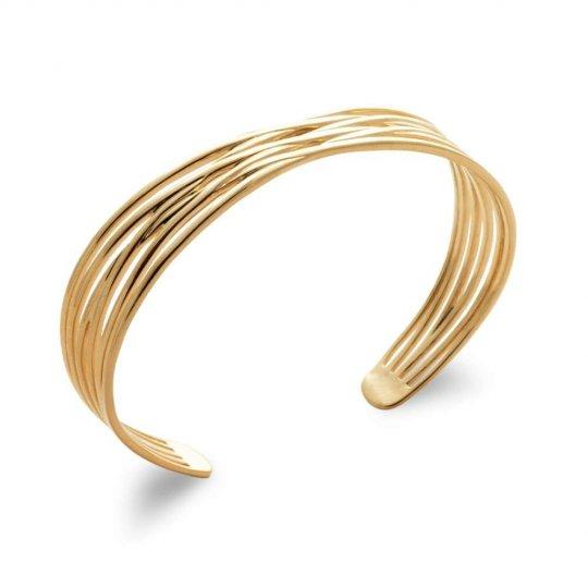 Bangle Ouvert croisé Gold plated 18k - Women - 58mm