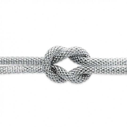 Bracelet Noeud Marin Acier 316L - Femme - 19cm