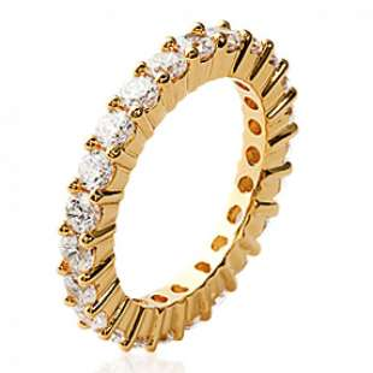 Ring d'éternité zirconium Gold plated 18k Women