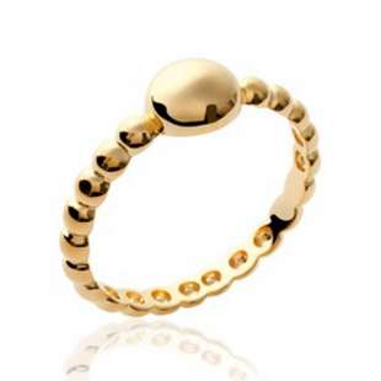 Ring de promesse fine perlée Gold plated 18k - Women