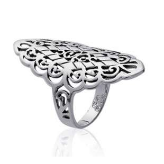 Ring Couvrante Lacework Argent - Women