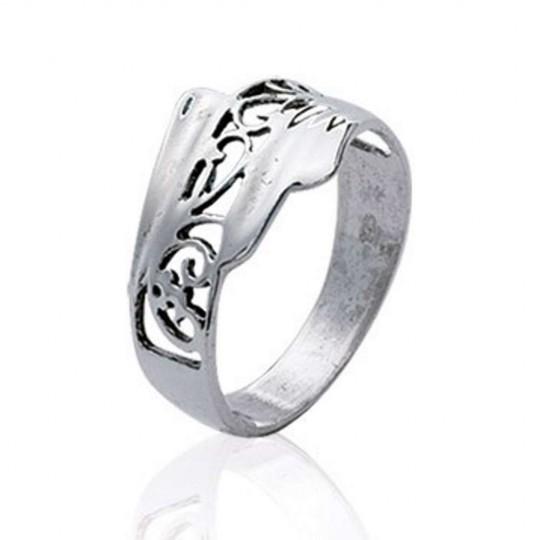 Ring Argent Rhodié celtique - Women