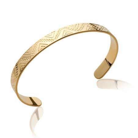 Bracciale Bangle Aztèque Maya Placcato in oro 18k - Donna - 54mm