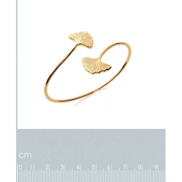 Bracciale Bangle Ginkgo yínxìng Abricotier d'argent Placcato in oro 18k - 58mm