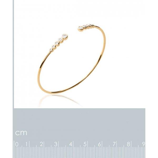 Jonc ligne de pierres Plaqué Or - Oxyde de Zirconium - 56mm