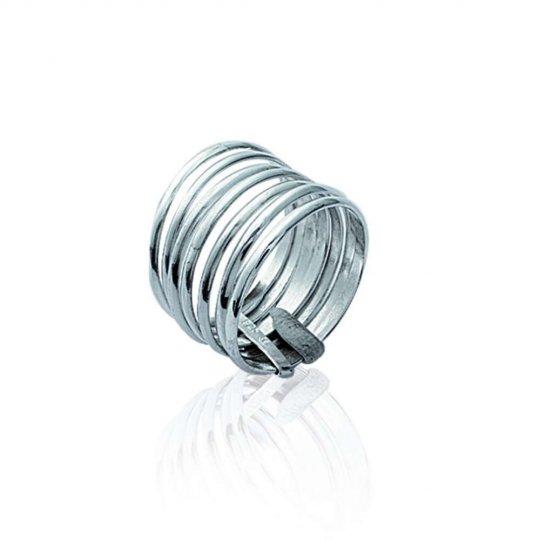 Ring semainier 14mm Argent multi anneaux for Men Women
