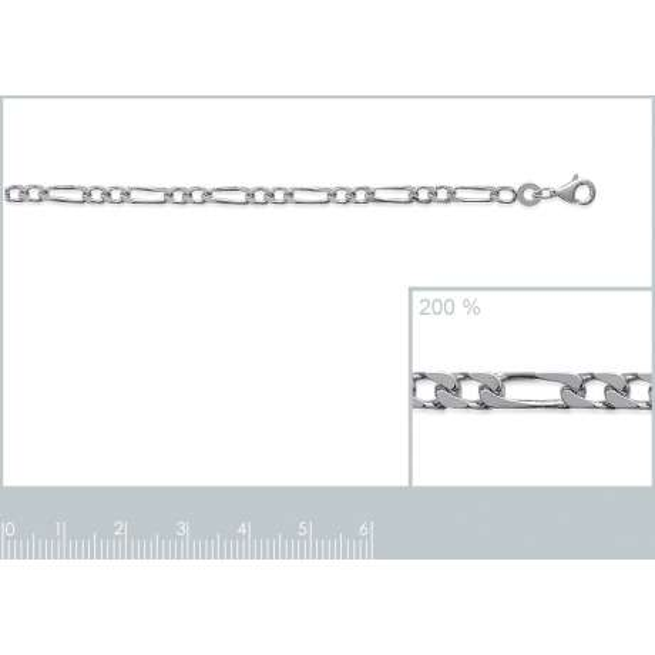 Bracciale Catena Figaro Argento Sterling 925 - Uomo/Donna - 21cm