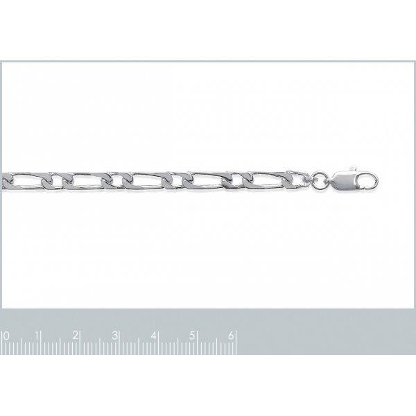Bracelet chaîne Argent Massif Rhodié - Homme/Femme - 21cm