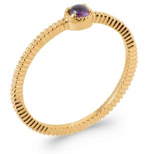 Ring perlée Améthyste Gold plated 18k 5 Microns - Women
