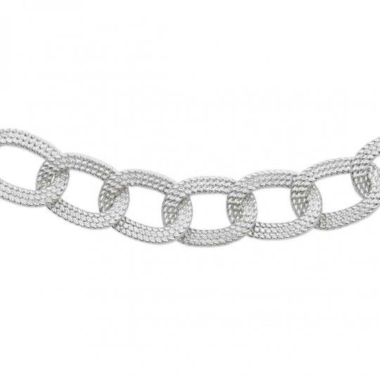 Necklace Anneaux tressés enlacés Argent rhodié - Women - 45cm