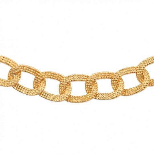 Collier Anneaux tressés enlacés Plaqué or - Femme - 45cm