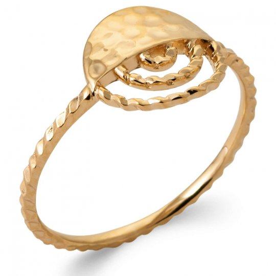 Ring Demi Lune martelée torsadée Gold plated 18k - Women