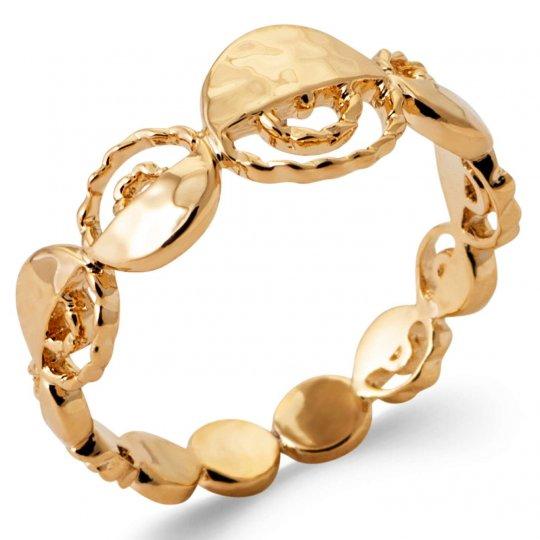 Ring Demi Lune martelée Gold plated 18k - Women