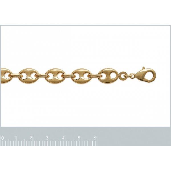 Bracciale Catena Grain De Café 9mm Placcato in oro 18k - Mixte - 19cm