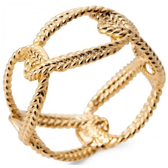 Bague anneau enlacée tressée Plaqué or - Femme