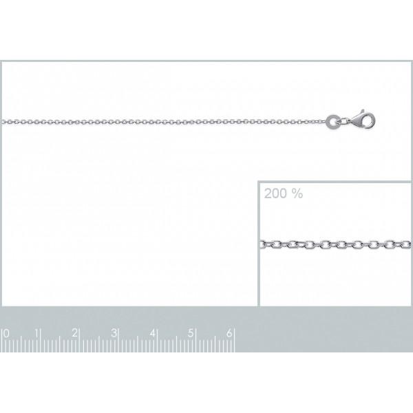 Catena de cou Forcat Argento Sterling 925 - Uomo/Donna - 38cm