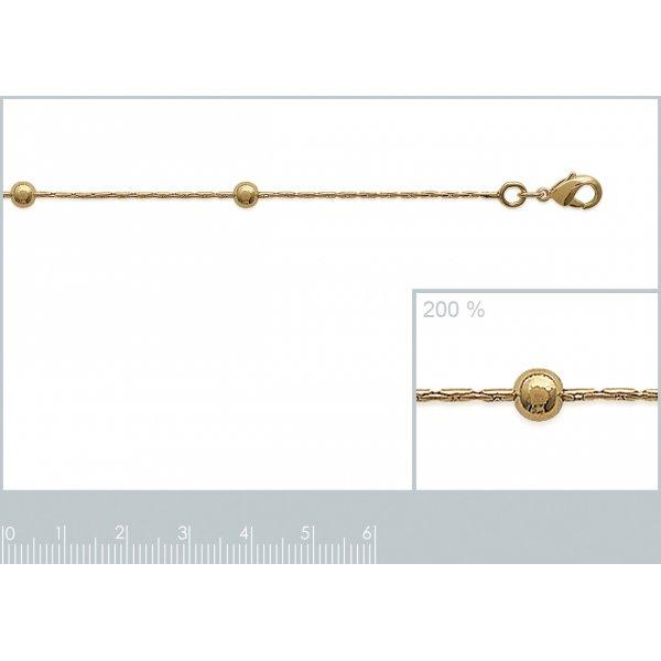 Bracelet chaîne Boule Plaqué Or - Femme - 18cm