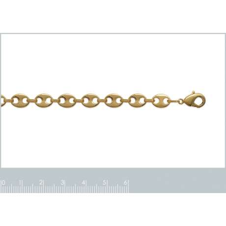 Catena de cou Grain De Café 6mm Placcato in oro 18k - Uomo/Donna - 45cm