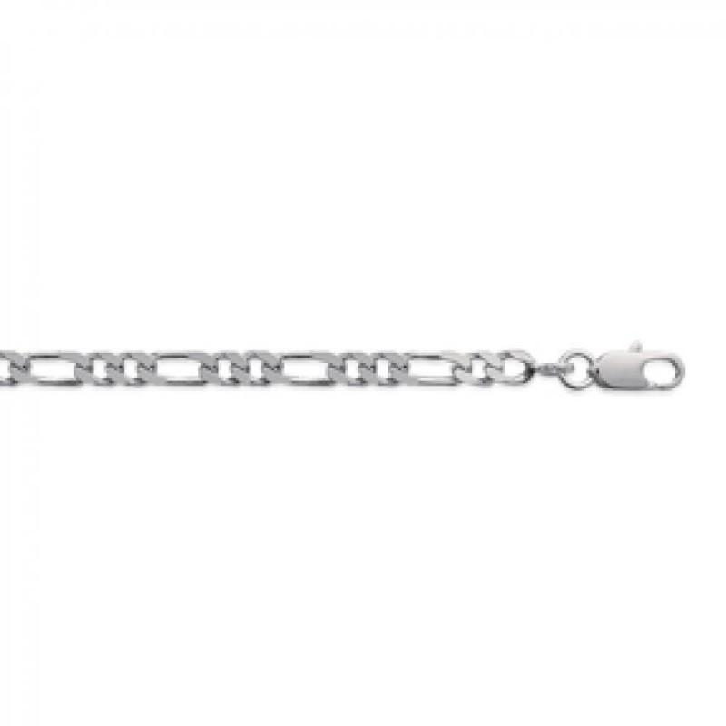 Chain de cou Figaro Sterling Silver - for Men/Women - 45cm