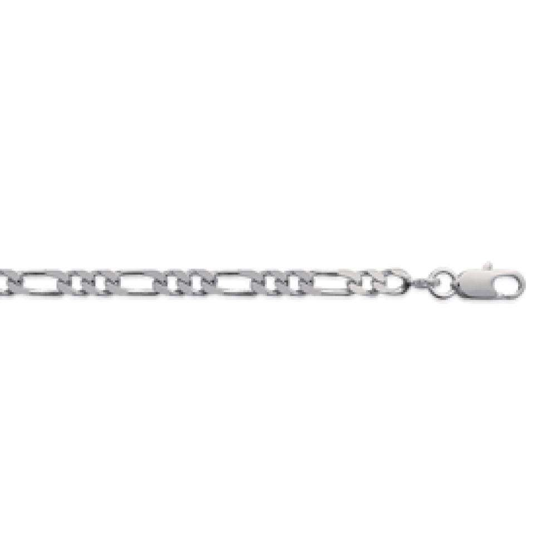 Chain Figaro Sterling Silver - for Men/Women - 60cm