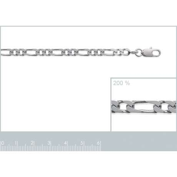 Catena Figaro Argento Sterling 925 - Uomo/Donna - 60cm