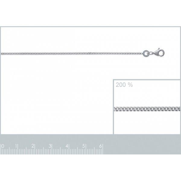 Catena de cou Gourmette Argento Sterling 925 Rodiato - Uomo/Donna - 40cm
