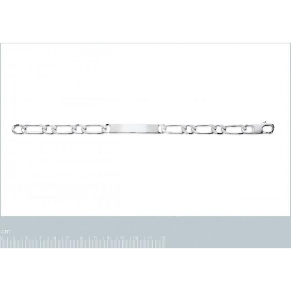 Bracelet chaîne Argent Massif Rhodié - - 19cm