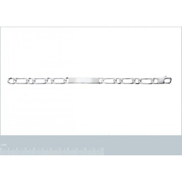 Bracelet chaîne Argent Massif Rhodié - - 21cm