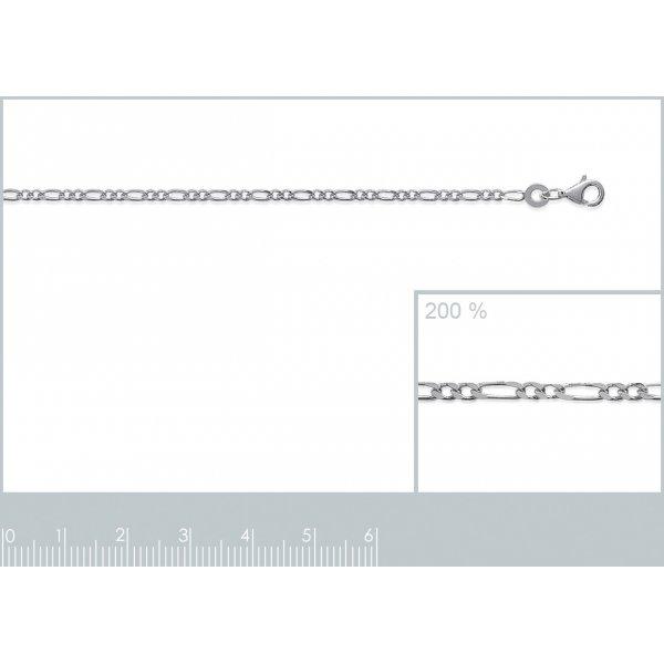 Bracciale Catena Figaro Argento Sterling 925 - Uomo/Donna - 18cm
