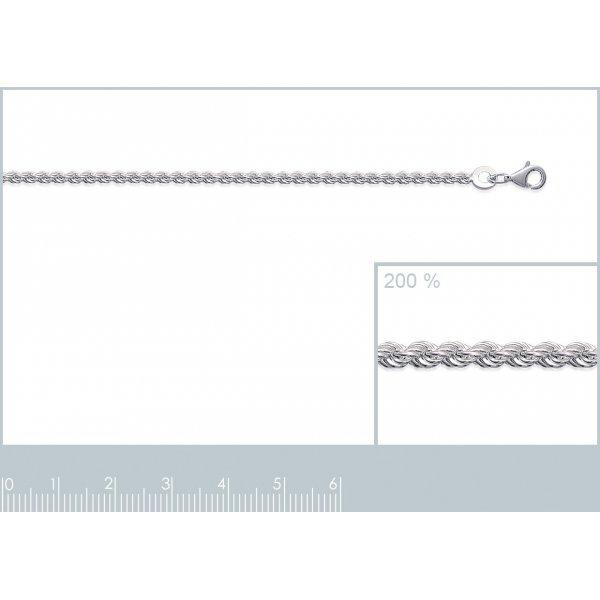 Bracelet chaîne Corde Ronde Argent Massif - Femme - 18cm