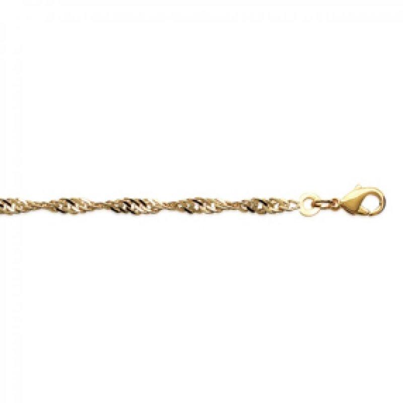 Armschmuck Kette Singapour Vergoldet 18k - Damen - 18cm