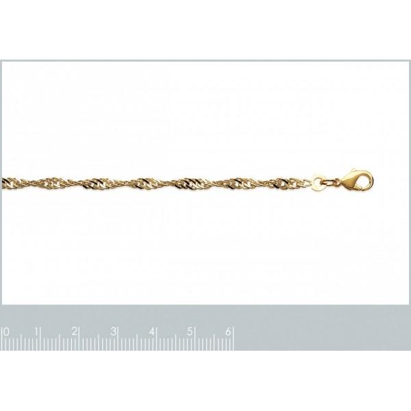 Catena de cou Singapour Placcato in oro 18k - Donna - 45cm