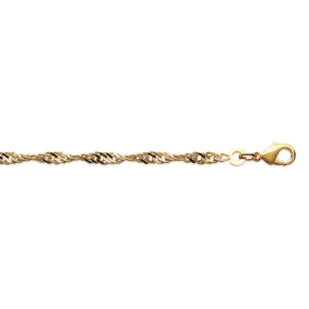 Catena Singapour Placcato in oro 18k - Donna - 50cm