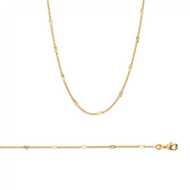 Kette de cou Vergoldet 18k - Damen - 45cm