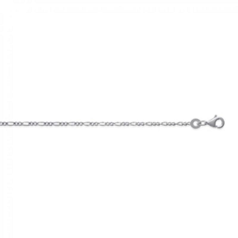 Chain de cou Figaro Sterling Silver - for Men/Women - 40cm
