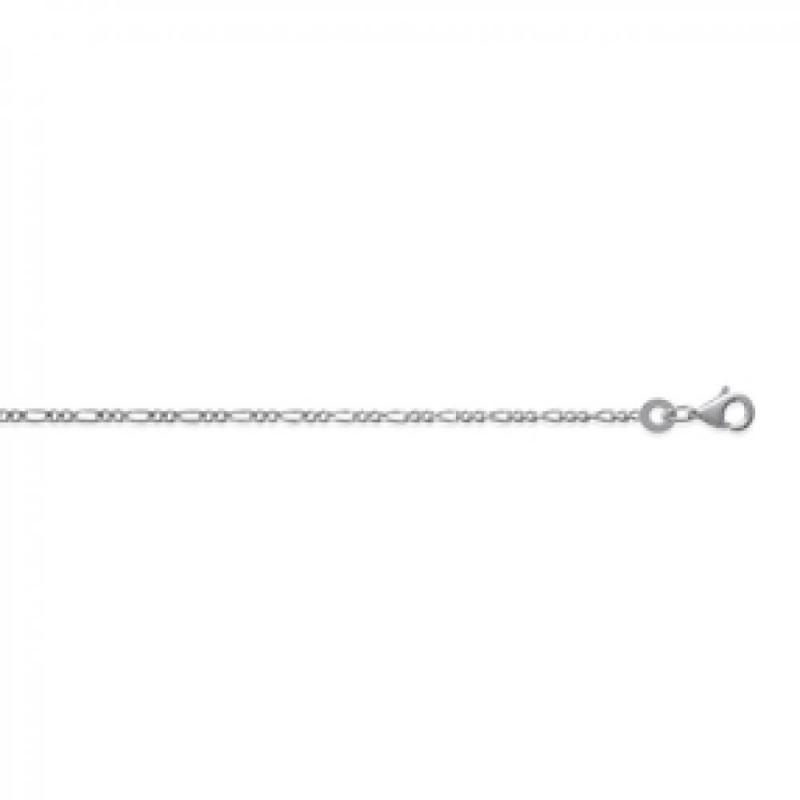 Chain Figaro Sterling Silver - for Men/Women - 50cm
