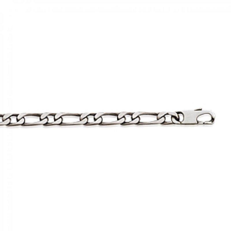 Bracelet Chain Figaro Sterling Silver - for Men/Women - 21cm