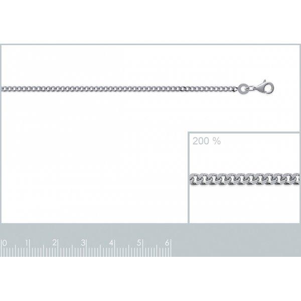 Catena de cou Gourmette Argento Sterling 925 - Uomo/Donna - 40cm