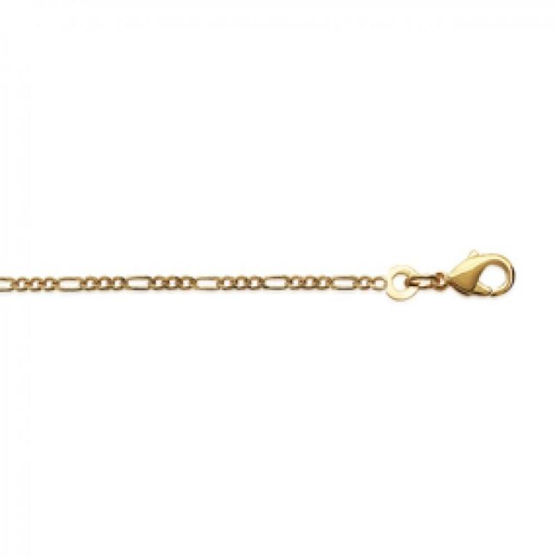 Chain de cou Figaro Gold plated 18k - for Men/Women - 40cm
