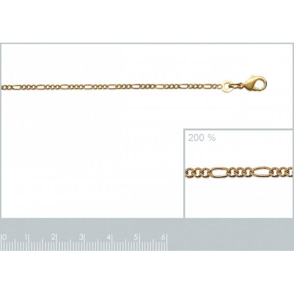 Catena de cou Figaro Placcato in oro 18k - Uomo/Donna - 40cm