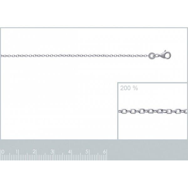 Kette 925 Sterling Silber rhodiniert - forçat - 80cm