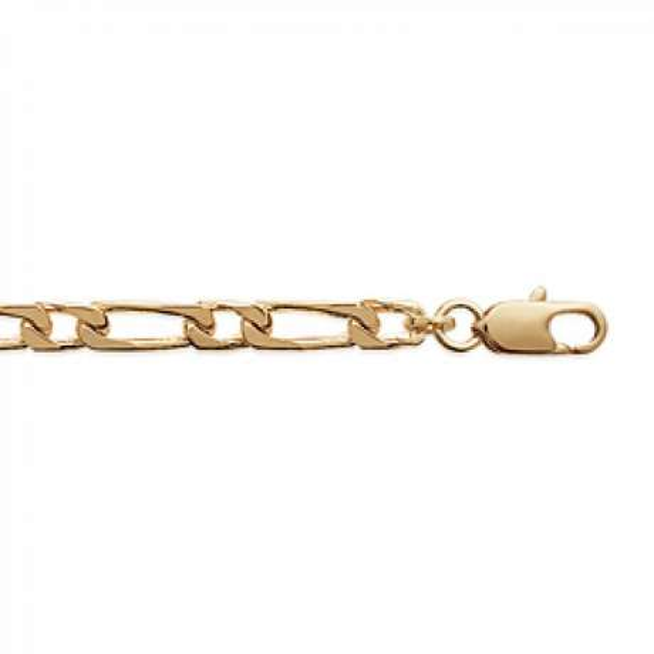 Chaîne Figaro Plaqué Or - Homme/Femme - 50cm