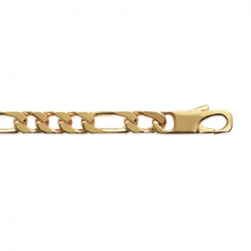Cadena Figaro Chapado en Oro 18K - Hombre - 50cm