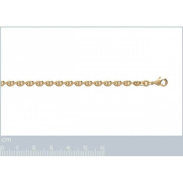 Bracelet chaîne Grain De Café 3.7mm Plaqué Or - Mixte - 18cm