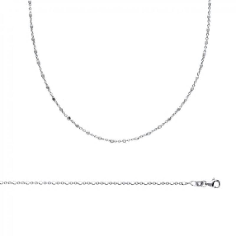 Kette de cou 925 Sterling Silber rhodiniert - - 45cm