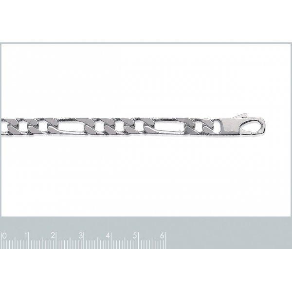 Bracelet chaîne Figaro Argent Massif - Homme - 21cm