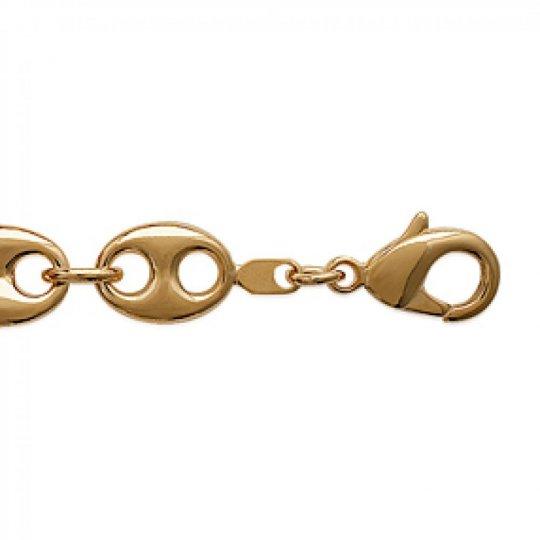 Bracelet chaîne Grain De Cafe 10.5mm Plaqué Or - Mixte - 21cm