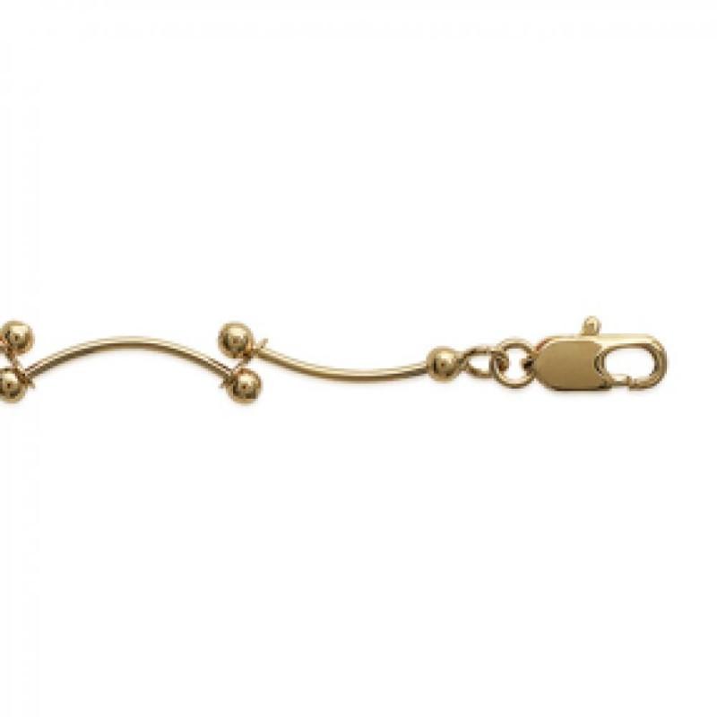 Bracelet chaîne Plaqué Or - Femme - 18cm