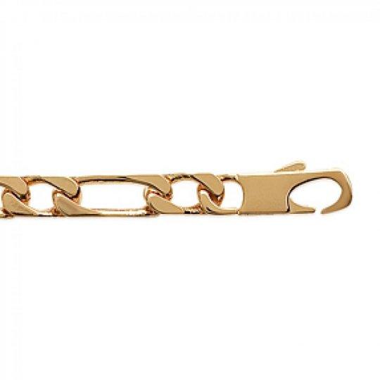 Bracciale Gourmette Figaro Placcato in oro 18k - Uomo - 23cm