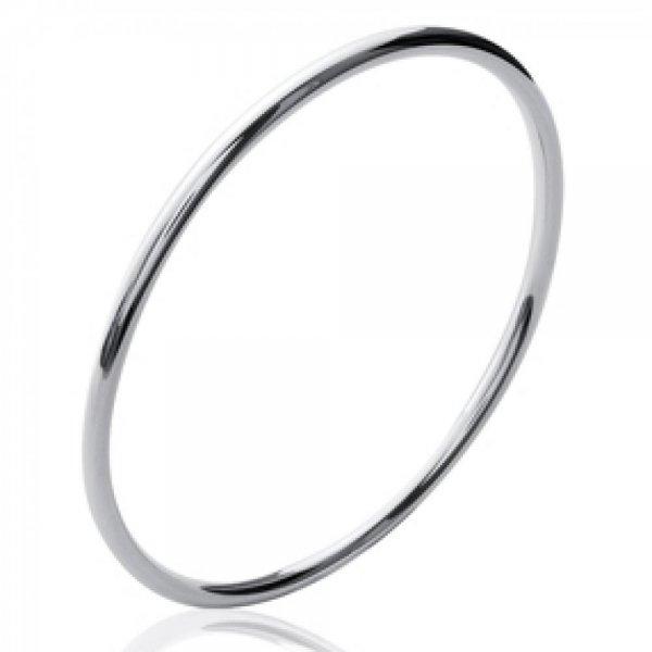 Bracciale Bangle Simple Argento Sterling 925 Rodiato - Donna - 58mm